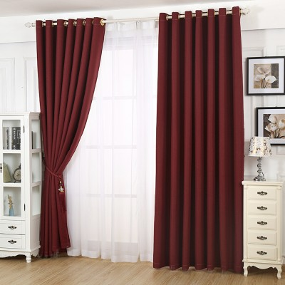 Linen Curtains Blackout Thermal Insulated Energy Saving Textured Linen Curtain Panels for Bedroom Grommet Drapes for Liv